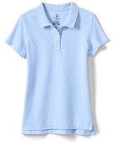 Classic Girls Short Sleeve Fem Fit Mesh Polo-Blue