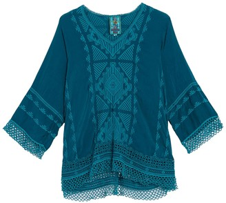 Johnny Was Tania Embroidered Long Sleeve Tunic