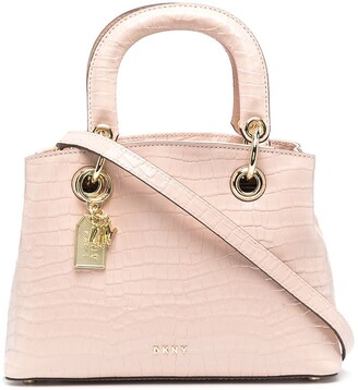 DKNY Embossed-Leather Tote Bag