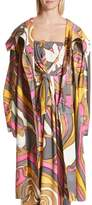 Marc Jacobs Retro Print Oversize Coat