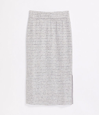 LOFT Lou & Grey Striped Brushmarl Midi Skirt