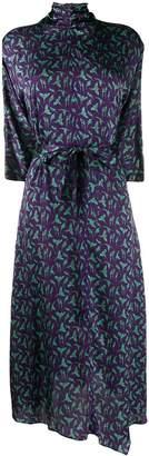 Paul Smith bird print belted dress