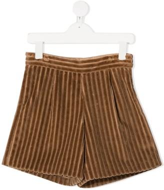 BRUNELLO CUCINELLI KIDS Chunky Corduroy Shorts