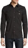 Diesel Stretch-Woven Cargo Shirt, Black