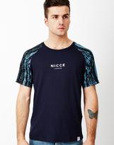 Nicce Aqua Panel T-Shirt