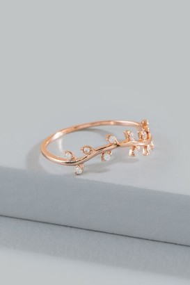 francesca's Gabi Rose Gold Leaf Ring - Rose/Gold