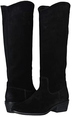 Frye AND CO. Caden Stitch Tall (Black Suede) Women's Boots