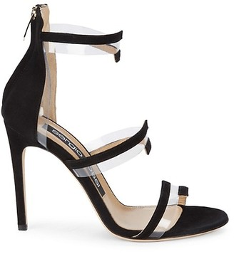 Sergio Rossi Ankle-Strap Suede Sandals