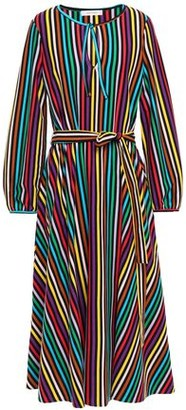 Parker Chinti & Belted Striped Cotton Midi Dress