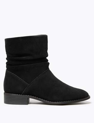 Marks and Spencer Suede Slouchy Ankle Boots