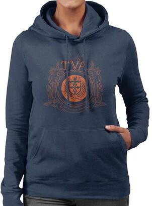 Marvel Loki Time Variance Authority Icon Women's Hooded Sweatshirt Navy Blue