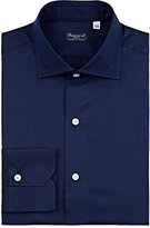 Finamore Men's Cotton-Silk Dress Shirt-NAVY