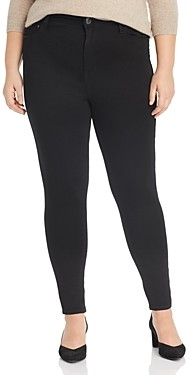 Seven7 Jeans Plus Lia Tummyless Skinny Jeans in Black Rinse