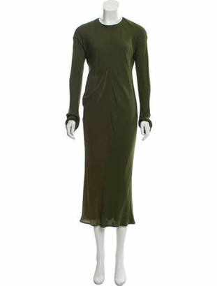 Haider Ackermann Contrast Maxi Dress Green