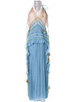 Chloé tasseled micro pleated gown
