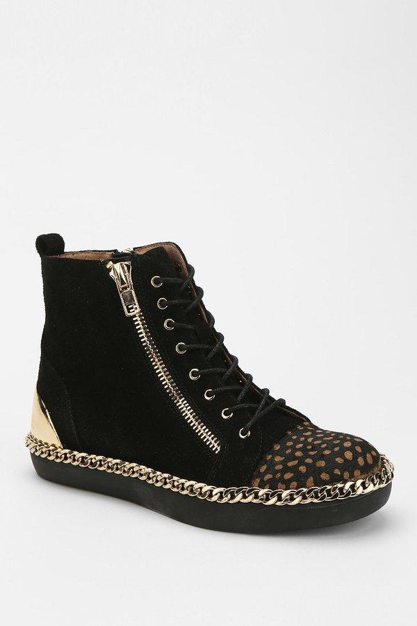 Jeffrey Campbell Adams Embellished High-Top Sneaker