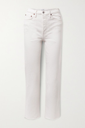 RE/DONE + Net Sustain Originals Stove Pipe Comfort Stretch High-rise Straight-leg Jeans - Off-white