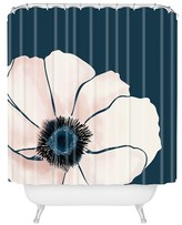 """DENY Designs Khristian A Howell FLEUR in Navy Shower Curtain by 71""""x74"""")"""