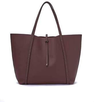 Mint Velvet Cosima Burgundy Stud Tote Bag
