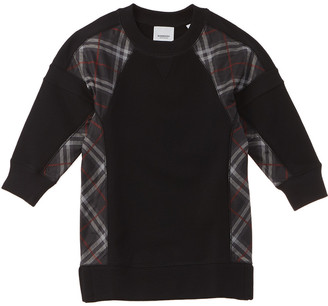 Burberry Vintage Check Panel Sweaterdress