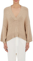 Nili Lotan Women's Logan V-Neck Sweater-BEIGE, TAN