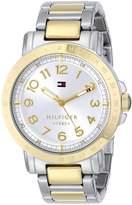 Tommy Hilfiger Women's 1781398 Analog Display Quartz Watch, Two Tone
