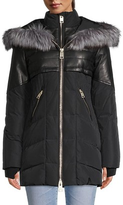 Nicole Benisti Meribel Fox Fur-Trim Down Coat