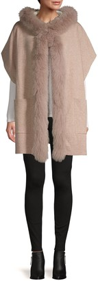 La Fiorentina Fox Fur-Trim Wrap