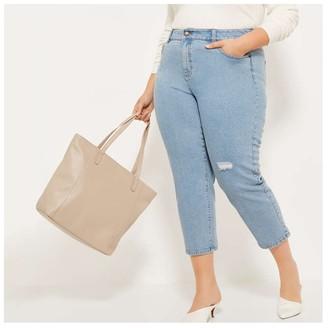 Joe Fresh Women's Faux Leather Tote Bag, Lilac (Size O/S)