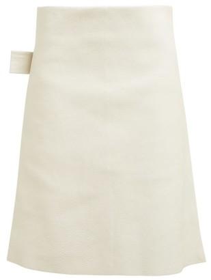 Bottega Veneta Leather Pencil Skirt - Womens - Ivory