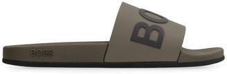 HUGO BOSS Logo Detail Rubber Slides