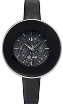 Go Girl Only - 698590 - ladies analogue quartz watch - black dial - black leather strap