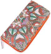 Riah Fashion Orange Abstract Print Wallet
