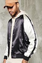 Forever 21 FOREVER 21+ Stripe-Sleeve Souvenir Jacket