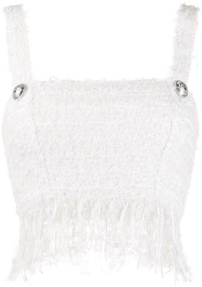 Balmain Tweed Cropped Top