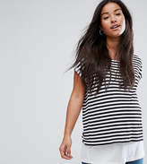 Asos Nursing T-Shirt With Double Layer In Stripe