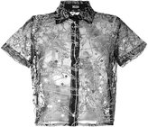Kokon To Zai transparent constellation shirt - women - Silk - S