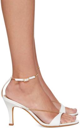 Maryam Nassir Zadeh White Chain Aurora Sandals