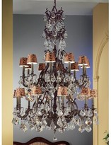 Fagundes 20 - Light Shaded Tiered Chandelier Astoria Grand Finish: Aged Bronze, Crystal Type: Crystalique Golden Teak