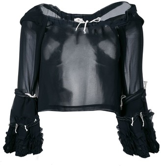 Comme des Garcons Pre-Owned sheer drawstring blouse