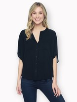 Splendid Rayon Voile Button Circle Top