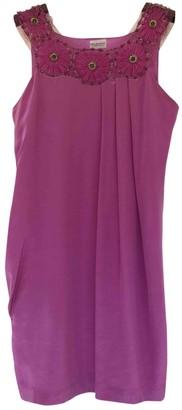 Philosophy di Alberta Ferretti Purple Silk Dress for Women