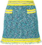 M Missoni patterned contrast trim mini skirt