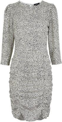 New Look Tall Spot Print Ruched Mini Dress