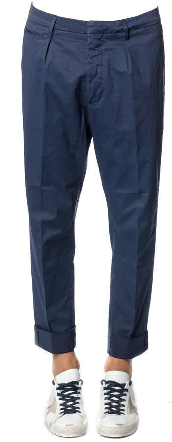Dondup Frankie Blu Cotton Trousers