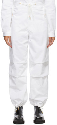 Dion Lee White Cotton Parachute Trousers