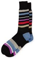 Paul Smith Flux Striped Socks, Black
