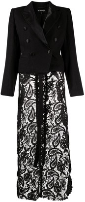 Ann Demeulemeester High-Low Lace Jackety