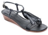 Bernardo Women's Footwear Court Fringe Leather Sandal