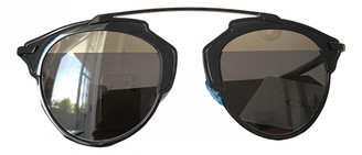 Christian Dior So Real Black Plastic Sunglasses